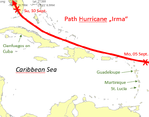 Hurricane Irma - How it affects the Caribbean Yacht Charter Destinations
